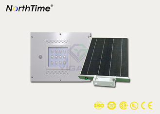 ประเทศจีน 12W Integrated Solar Light Street Lamp With Sensor Aluminum Alloy Housing ผู้ผลิต