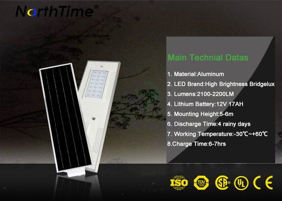 ประเทศจีน 50W Solar Panel High Lumen Solar Lights For Public Projects โรงงาน