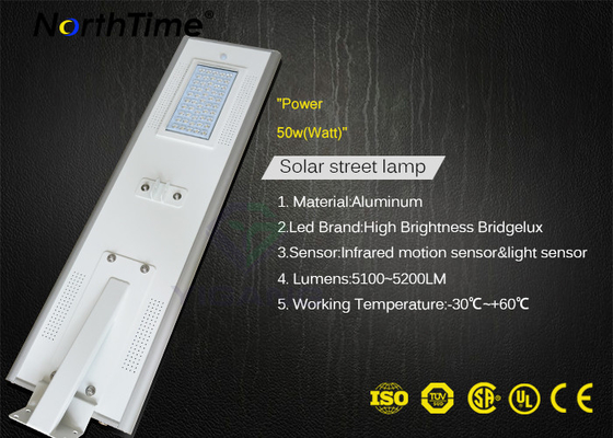 ประเทศจีน Solar powered street lights system PIR Sensor Waterproof Government Projects 115LM/W โรงงาน